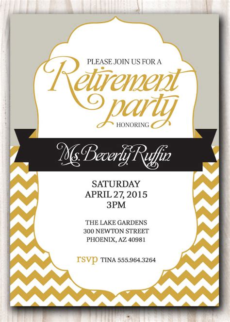 16 retirement invitation templates free sle exle