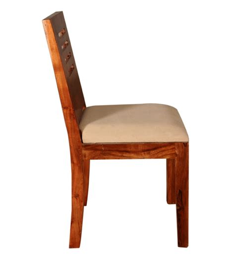 Sheesham Wood Dining Chairs Sheesham Wood Slanted Backrest Chair By Mudra Dining Chairs Furniture Pepperfry Product