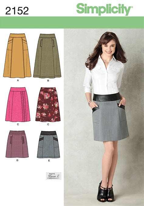 pattern skirt pinterest simplicity 2152 from simplicity patterns is a misses skirt
