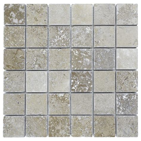 noce tumbled travertine mosaic tiles 2x2 natural stone mosaics