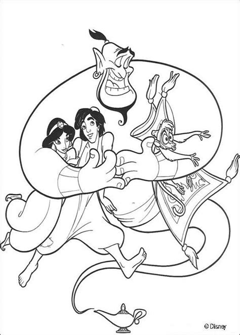 the genie with friends coloring pages hellokids com