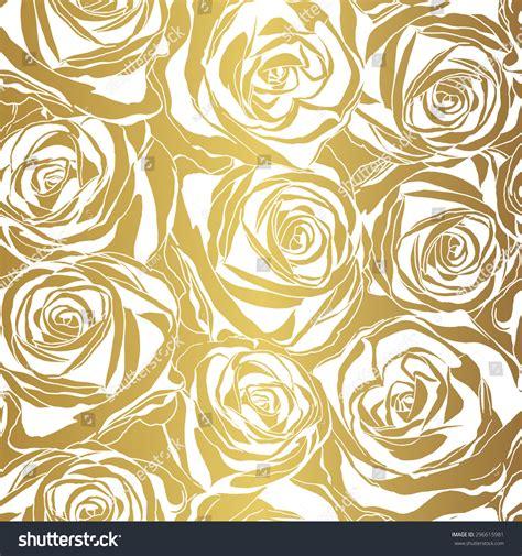 gold rose pattern 8319 elegant white rose pattern on gold background vector