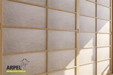 Rice Paper Closet Doors Japanese Wardrobe With 2 Rice Paper Shoji Doors