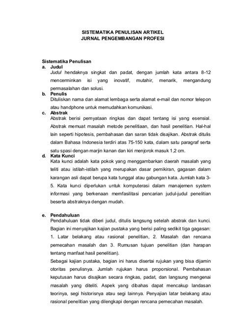 contoh format artikel review sistematika penulisan artikel okkkkk