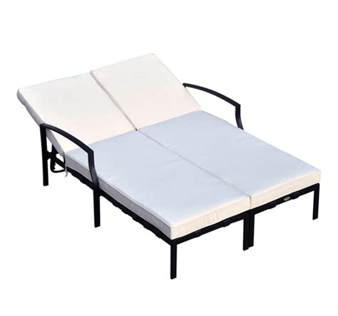 2 person chaise lounge outdoor adjustable outdoor patio double chaise lounge cushioned