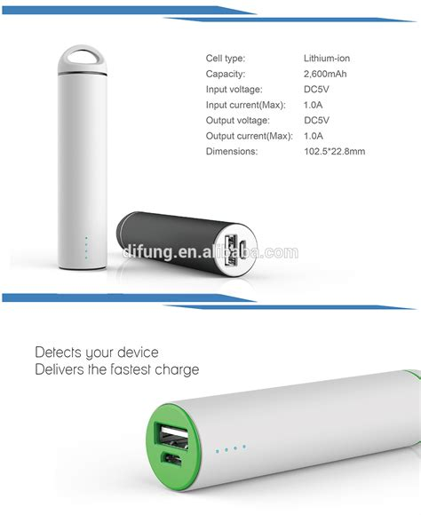 power bank small difung small size key ring rubber battery power banks