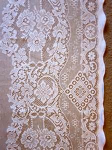 jessica victorian style white cotton lace curtain panel