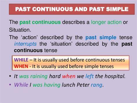 pattern of simple past continuous tense past simple vs past continuous