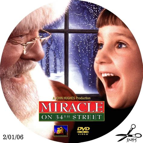 Miracle On Free Miracle On 34th Custom Dvd Labels Miracle On 34th Street1 Dvd Covers
