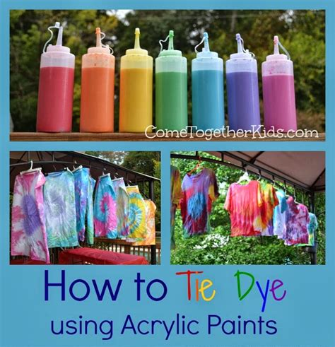 Come Together How To Tie Dye With Acrylic Paints