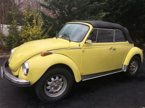 vw super beetle convertible bumblebee yellow   black top  interior  sale