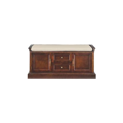 Home Decorators Bench by Home Decorators Collection Royce Storage Smokey Brown Bench 9856600820 The Home Depot