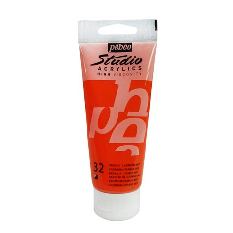 100 acrylic paint uk acrylic paint high viscosity p 233 b 233 o studio orange cadmium x