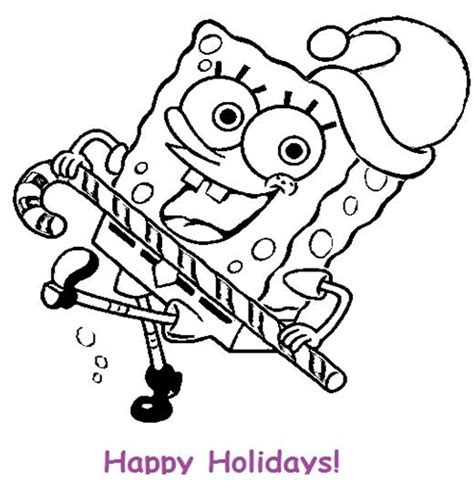my family fun spongebob christmas coloring pages