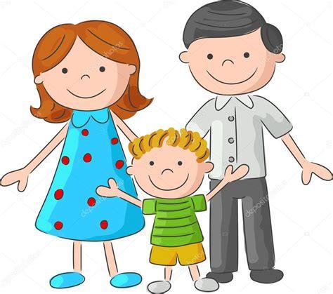 imagenes reflexivas de familia dibujo de familia feliz de la historieta vector de stock