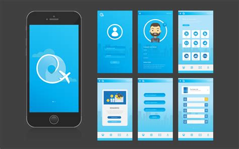 app mobile mobile app ui interface and gui free vector