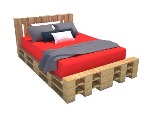 fare a letto progettare con i pallet come costruire un letto