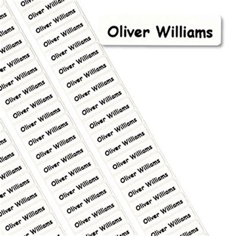 printable stick on name tags peel stick name labels jersey schools sports kit