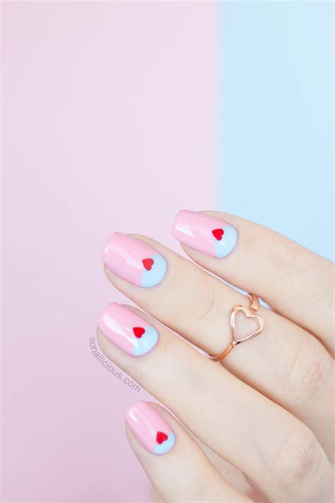 easy valentines nails 2 easy s day nail ideas with ncla toppers