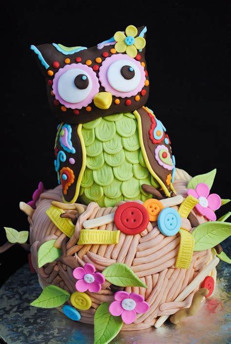 owl themed birthday cakes  love livingandloving