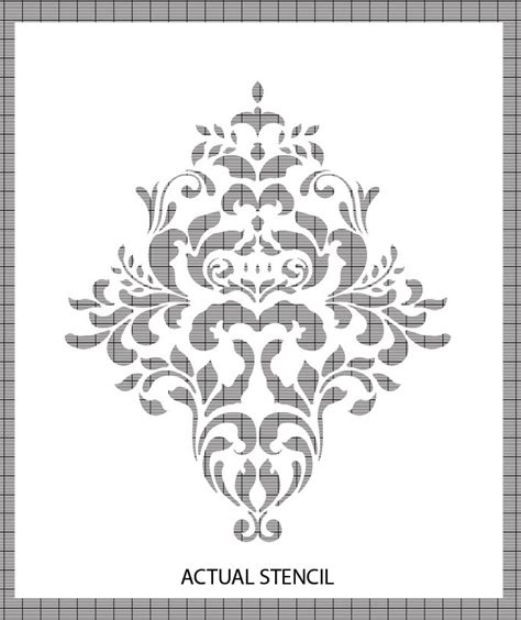 printable damask stencils d i y damask wall pinvestigation the action of