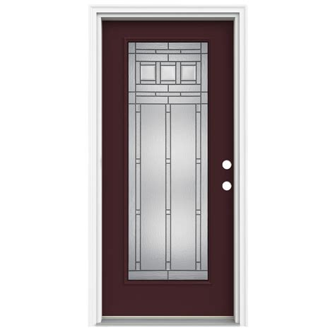 32 X 80 Exterior Door Shop Reliabilt Lite Decorative Currant Prehung Inswing Fiberglass Entry Door Common 32 In