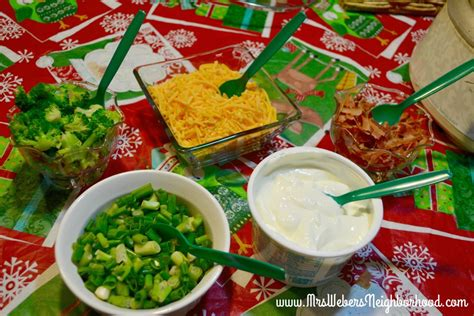 toppings for potato bar holiday dinner idea comfort food bar crock pot mashed