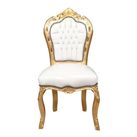Baroque Chair baroque chair white and gold bronze statues