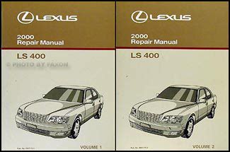 service and repair manuals 1989 lexus ls spare parts catalogs 2000 lexus ls 400 repair shop manual original 2 volume set