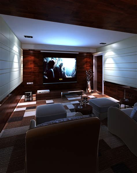 home theater interior home theater interior 3d model max cgtrader