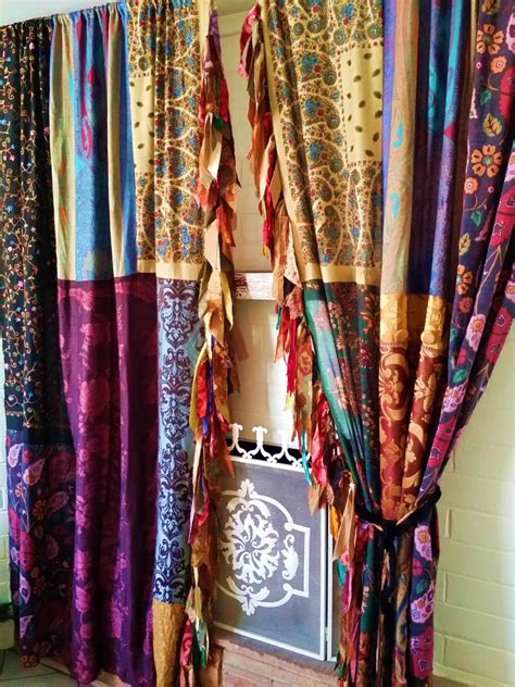 boho window curtains boho gypsy curtains drapes fall hippie luxe made to order