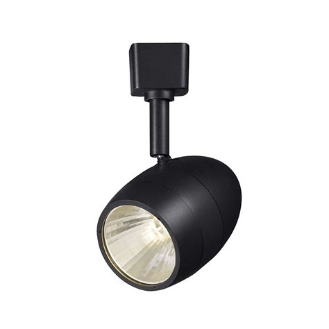 track lighting replacement heads hton bay black dimmable led track head the home depot