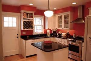 Red Kitchen With White Cabinets kitchen with white cabinets and red walls roselawnlutheran 598x400