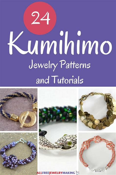 kumihimo jewelry patterns  tutorials allfreejewelrymakingcom
