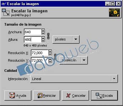 reducir imagenes jpg en linea the gimp manual reducir tama 241 o y peso daboweb