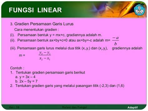 cara membuat grafik persamaan garis lurus dengan m s excel relasi dan fungsi