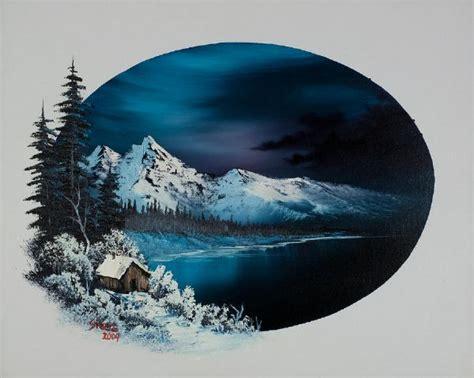 bob ross painting moon bob ross winter moon painting bob ross