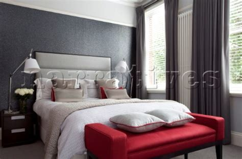 red and grey bedroom in love with the red seat bedroom dreams pinterest