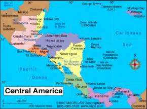 Honduras Map Central America by Central America Map Scuba Diving In Honduras