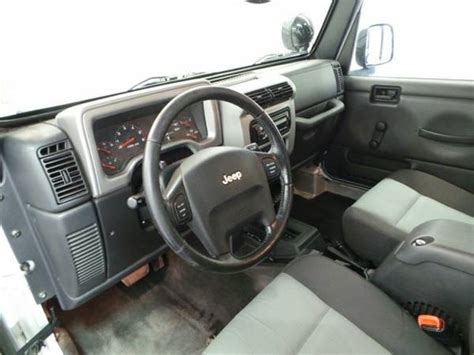 2005 jeep unlimited interior 2005 jeep wrangler unlimited lj for sale in white bear