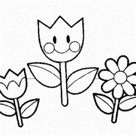 imagenes de flores faciles para colorear flores de primavera para pintar colorear im 225 genes