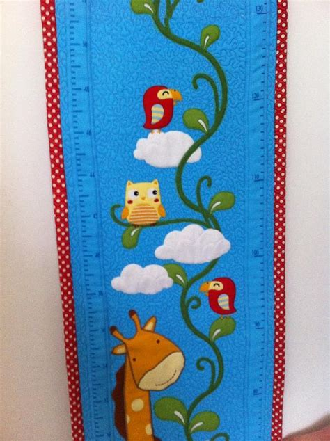 pattern for fabric growth chart you have to see quilted growth chart by sarah becker