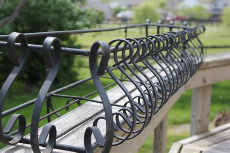 Planters For Wrought Iron Railings by Wrought Iron Planter Large Decortive Flower By Talesoftime