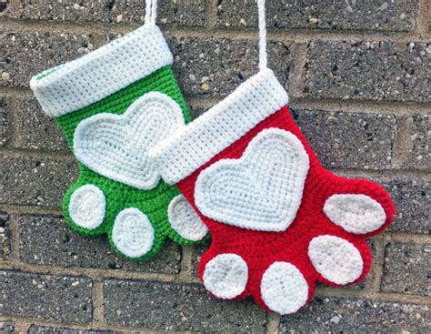 pattern for dog christmas stocking 40 all free crochet christmas stocking patterns patterns hub