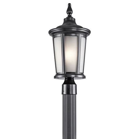 kichler post lights kichler 49657bk turlee black exterior post lighting