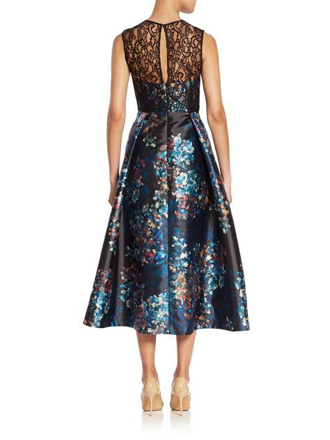 L Dress by L K Floral Print Tea Dress Lyst