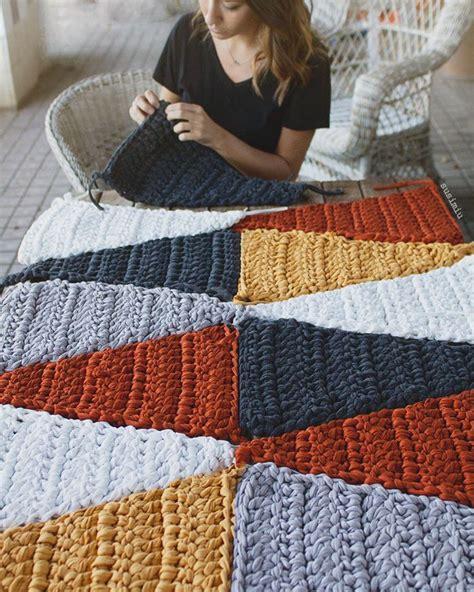 alfombra ganchillo alfombra modelo hipster trapillo ganchillo ganchillo