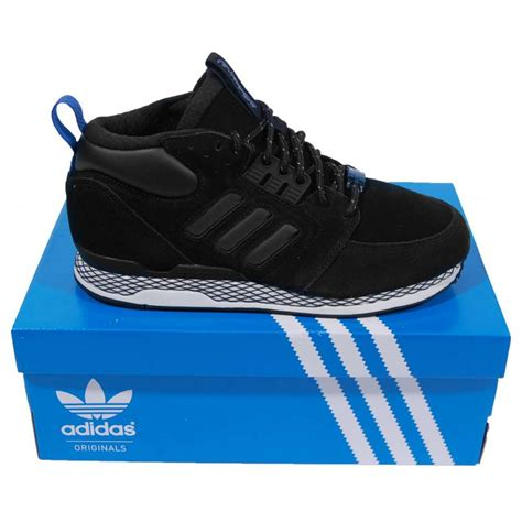 adidas originals zx casual mid black white vapour mens shoes from attic clothing uk