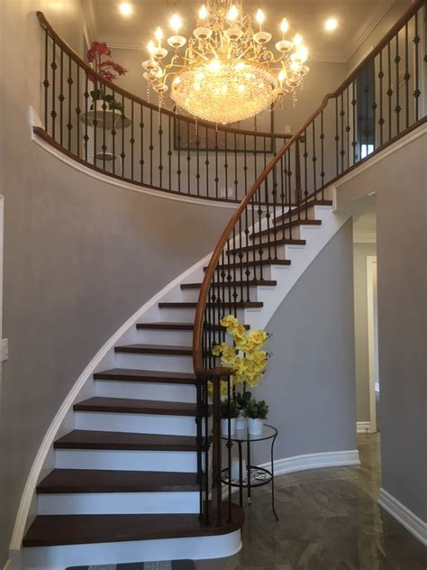 gallery curved stairs sunlight stair  railing corp