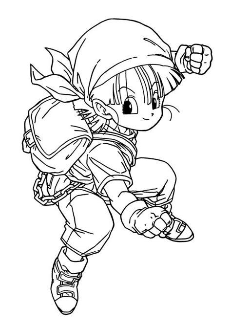 Coloriage De Manga Dragon Ball Z Dessin Il Est Petit Mais Coloriage Pour Les Tout Petit En Ligne